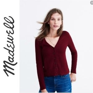 Madewell Button Down Sweater Size med